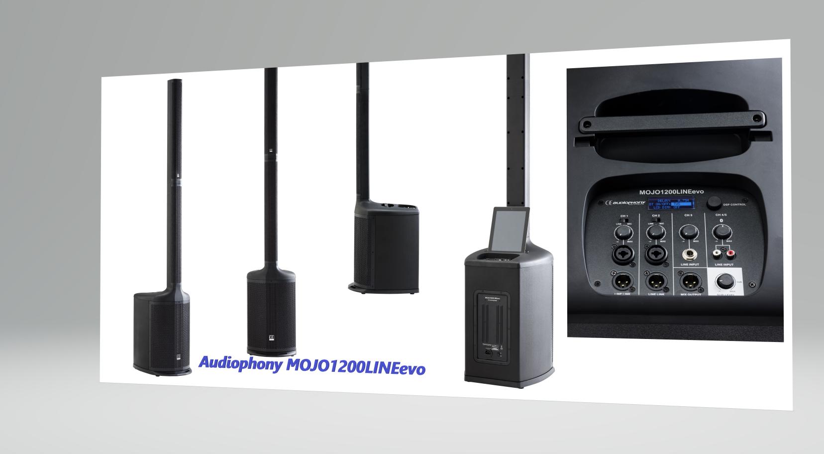 Εικόνα για την κατηγορία Νέο ανανεωμένο ενεργό Line Array από την Audiophony- MOJO1200LINEevo.
