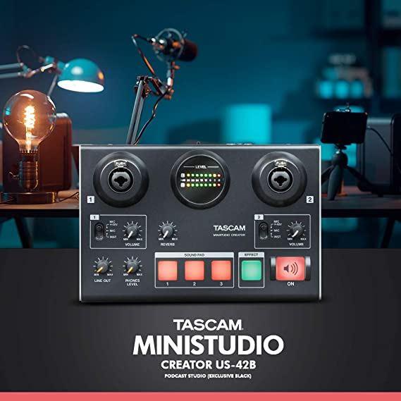 Εικόνα για την κατηγορία Tascam MiNiSTUDIO Creator US-42B κάρτα ήχου usb για broadcasting.