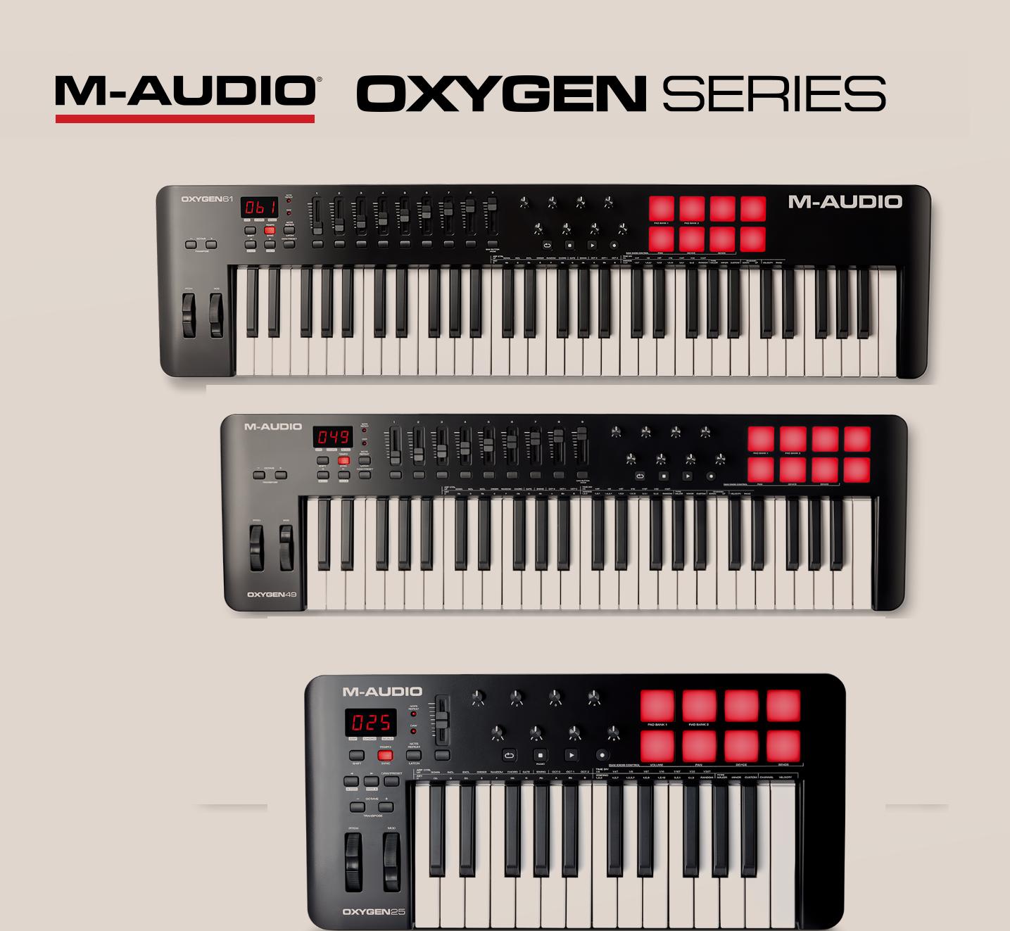 Εικόνα για την κατηγορία M-AUDIO OXYGEN MKV- USB MIDI CONTROLLERS